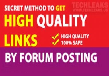 Offer manual 30 Forum Post & backlinks