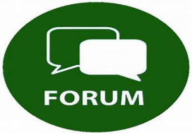 Offer i will create 20 Forum post do Follow backlinks for your website