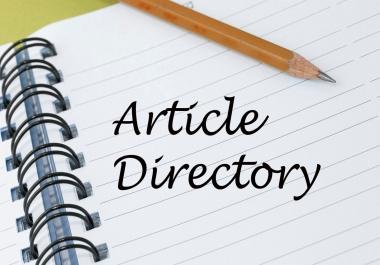 Deliver 3,000 Article Directories