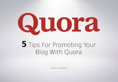 INCREASE YOUR WEBSITE 3 QUORA ANSWER WITH KEYWORD & URL