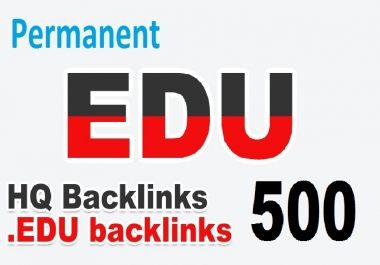 Get 500 .EDU backlinks To Your Blog For Search Engine Ranking