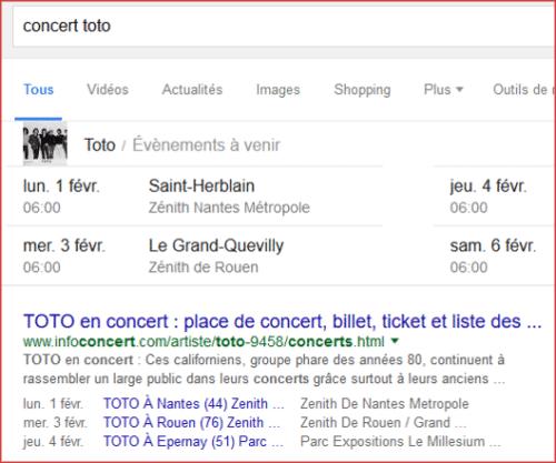 Extrait enrichis avec dates de concert