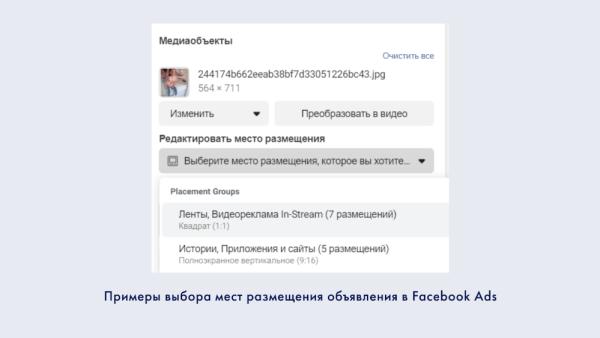 Настройка рекламы в Facebook Ads