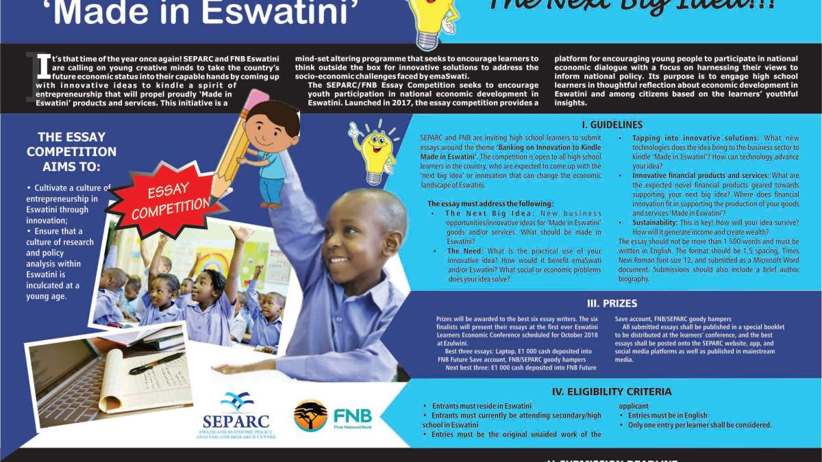 SEPARC, FNB launch 2018 Essay Competition