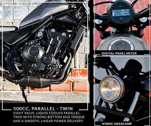 Fitur Honda Rebel CMX 500
