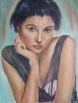 Retrato en azul