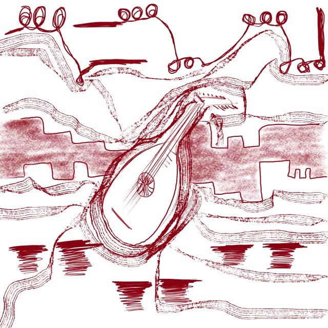 visual representation of vivaldi concerto for lute by sepia flora