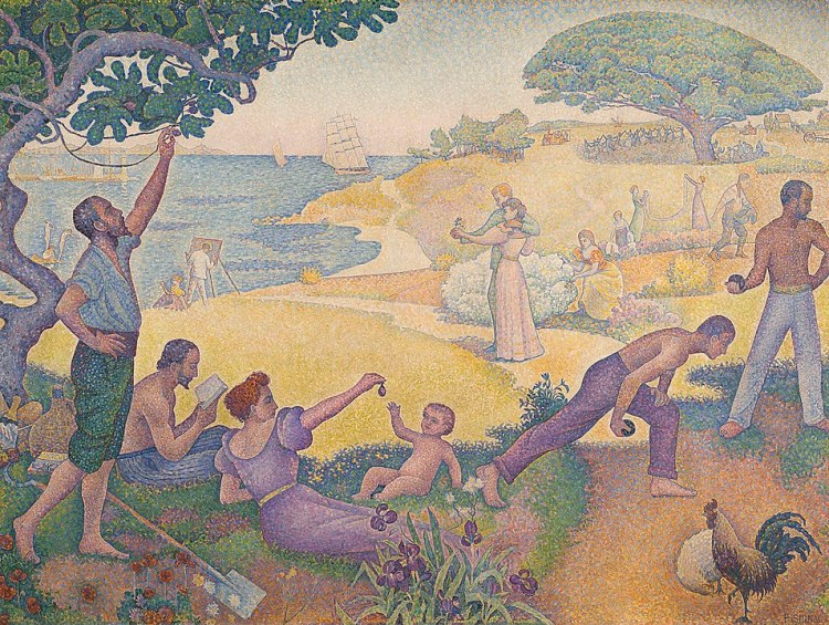 Paul Signac In the Time of Harmony: The Joy of Life Sunday by the Sea