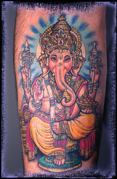 ThINK Tattoo | Ganesh Tattoo Lurid scapulæ - Sepia Mutiny