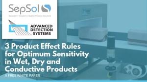 3 Product Effect Rules for Optimum Sensitivity