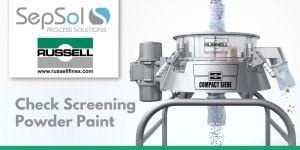 Vibratory Sieve Check Screens Powder Paint at Profel Extrusion & Finishing