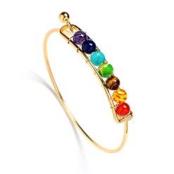 Bracelet Femme 7 Chakras Or