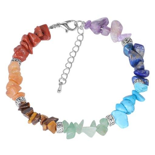 bracelet 7 chakras en pierres veritables