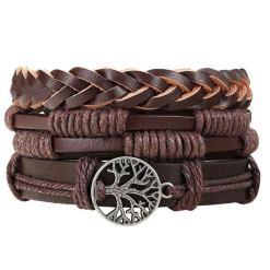 Bracelet Arbre de Vie Cuir