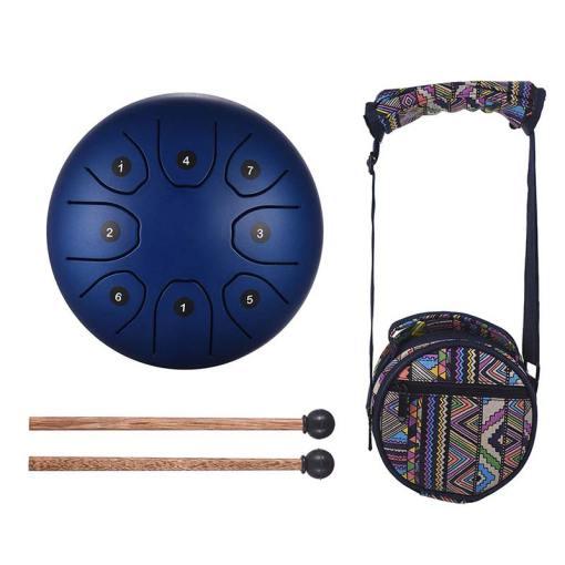 Steel Tongue Drum Bleu - Sept Chakras