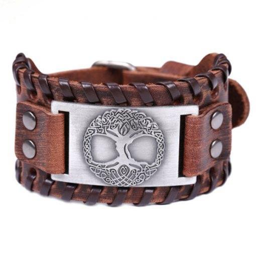 Bracelet Arbre de Vie Manchette Odin Argent