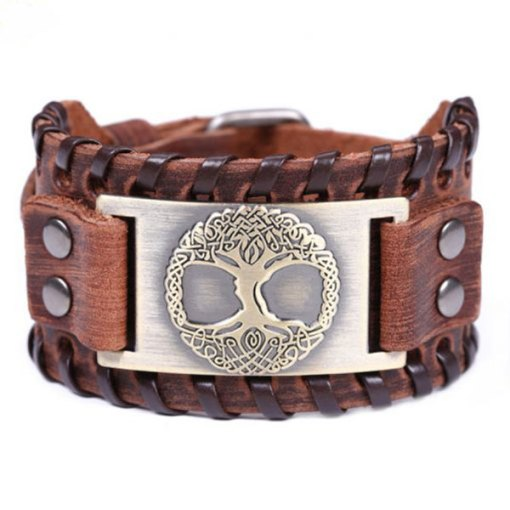 Bracelet Manchette Arbre de Vie Odin or