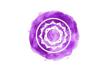 Symbole chakra couronne violet