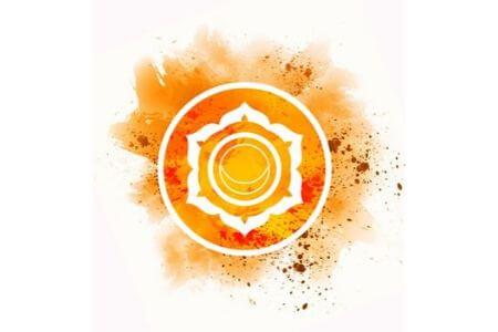 Symbole chakra sacré orange