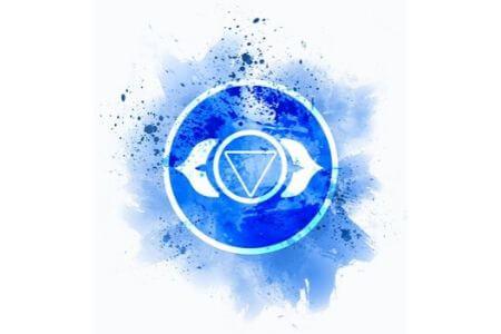 Symbole chakra du troisième oeil indigo