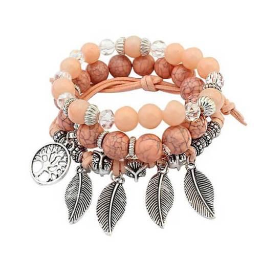 bracelet arbre de la vie rose amériendien