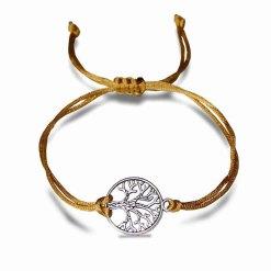 Arbre de vie bracelet chance marron