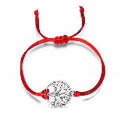 Arbre de vie bracelet chance rouge