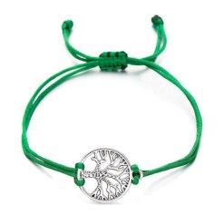 Arbre de vie bracelet chance vert