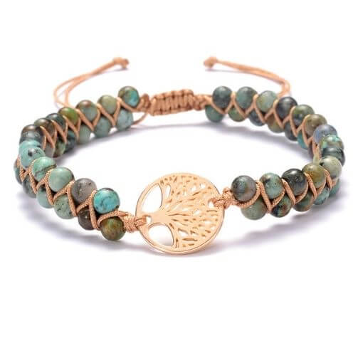 Bracelet Arbre de Vie Femme Jaspe Africain