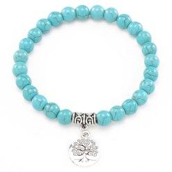 Bracelet Arbre de vie turquoise