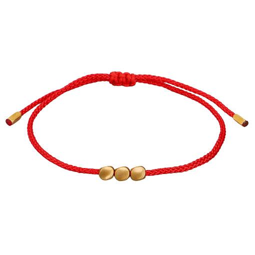 Bracelet Cuivre Tibétain Rouge