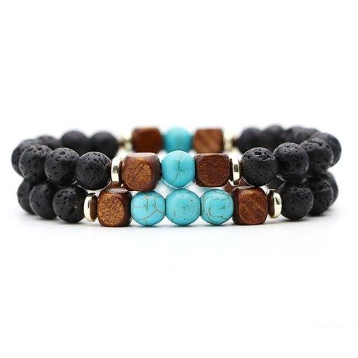 Bracelet Homme Perle Turquoise