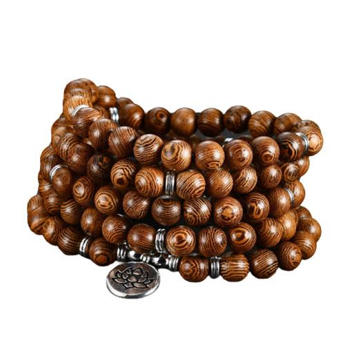 Bracelet Mala Bois Lotus