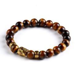 Bracelet Oeil de Tigre Bouddha