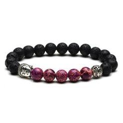 Yoga Zen Bracelet Bouddha Violet