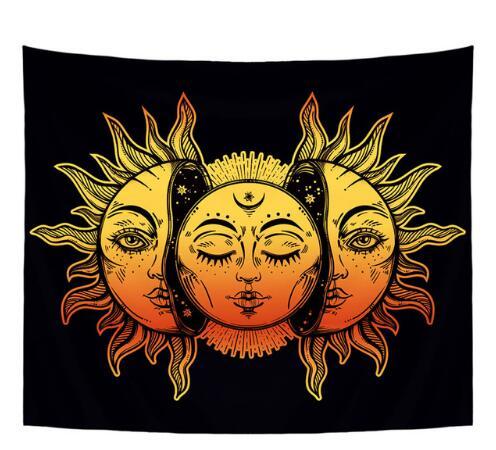 Tenture Murale Soleil Lune Cachée