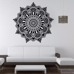 Stickers Mandala Fleur Élégante