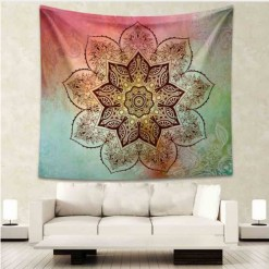 Tenture Murale Fleurs Mandala