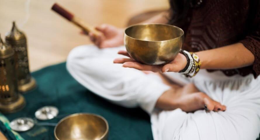 méditation bol tibétain