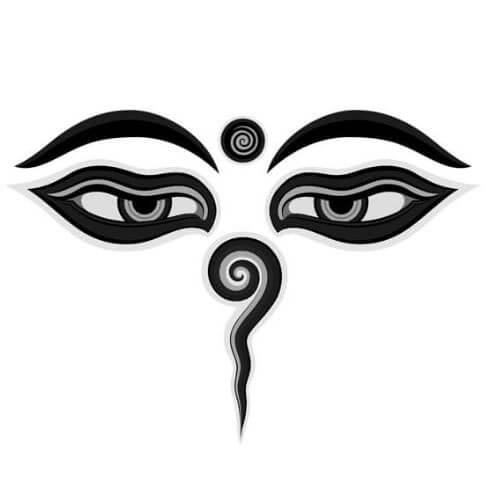 oeil de bouddha - bouddhisme symbole