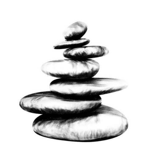 Cairn symbolique - signe bouddhiste