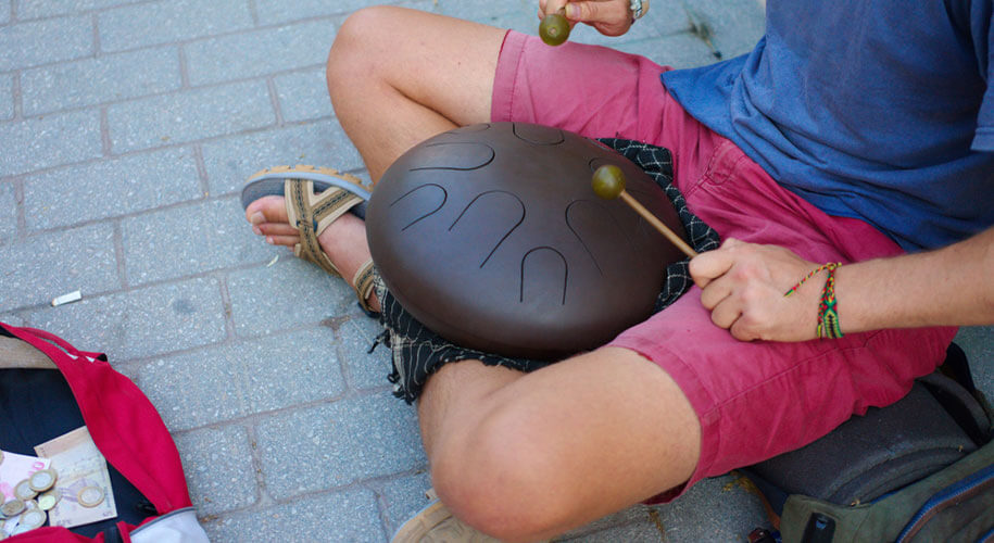 Steel Tongue Drum 11 notes