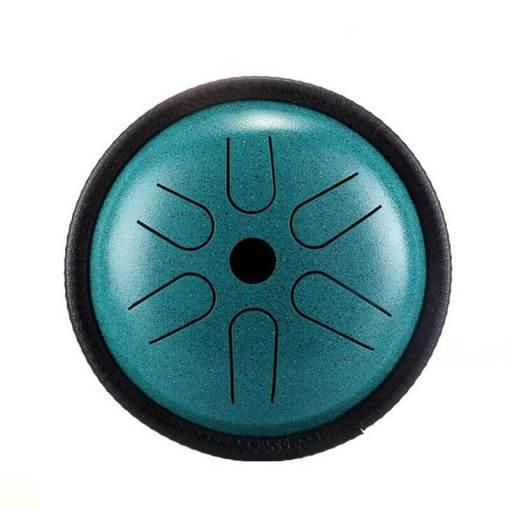 mini steel tongue drum bleu vert - sept chakras