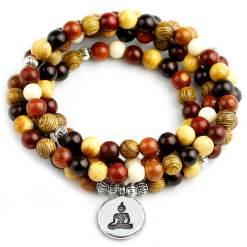 Bracelet Bouddhiste Mala en Bois - Mala Tibétain - Sept Chakras