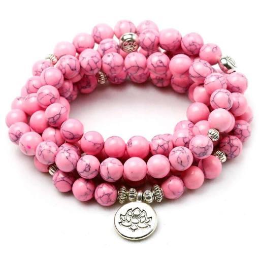 Bracelet Mala Lotus Femme - Sept Chakras