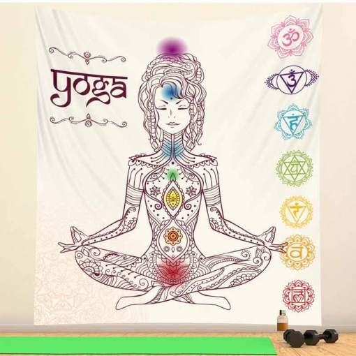 Tenture Décoration murale - Décoration zen - sept chakras