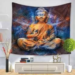 Tenture murale Bouddha - Décoration zen - sept chakras