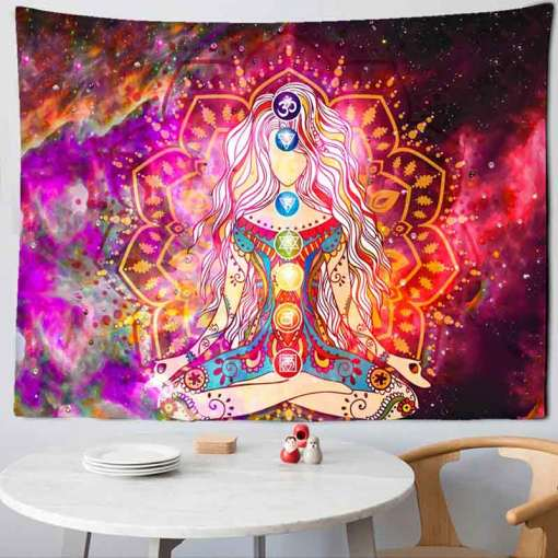 Tenture murale Hippie - Décoration zen - sept chakras