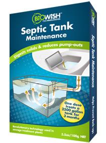 Septic Tank Maintenance packaging