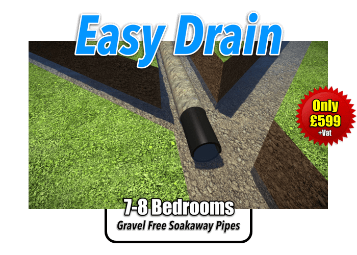 Easy Drain Soakaway Kit 7-8 Bedrooms